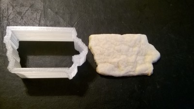 Iowa Cookie Cutter with Cookie